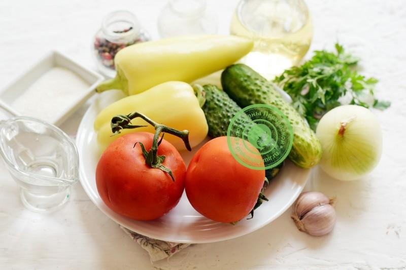 Маринованный овощной салат ассорти: рецепт в домашних условиях