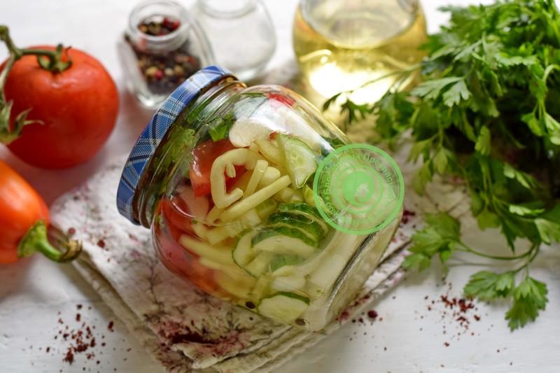 Маринованный овощной салат ассорти рецепт в домашних условиях