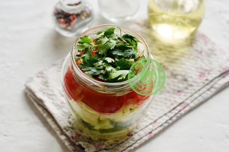 Маринованный овощной салат ассорти рецепт с фото