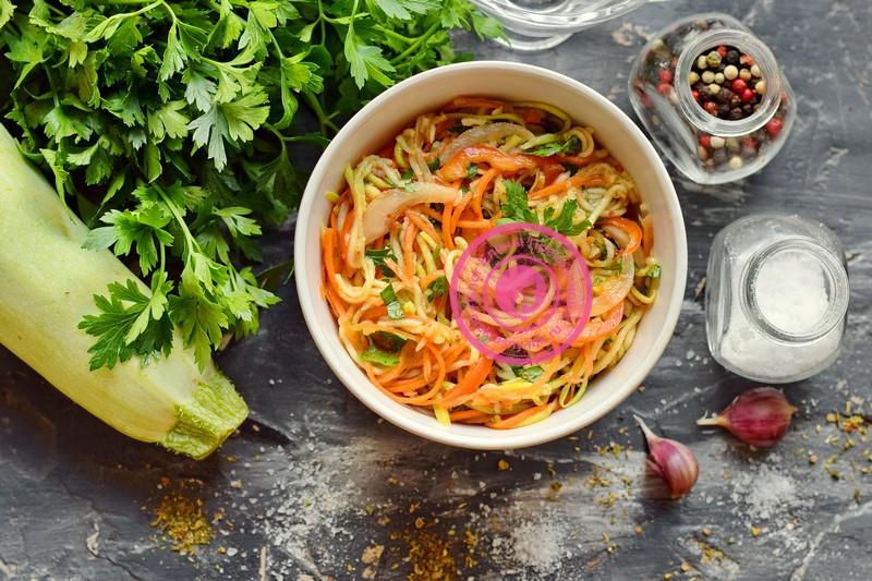 Салат из кабачков и перца по-корейски рецепт в домашних условиях