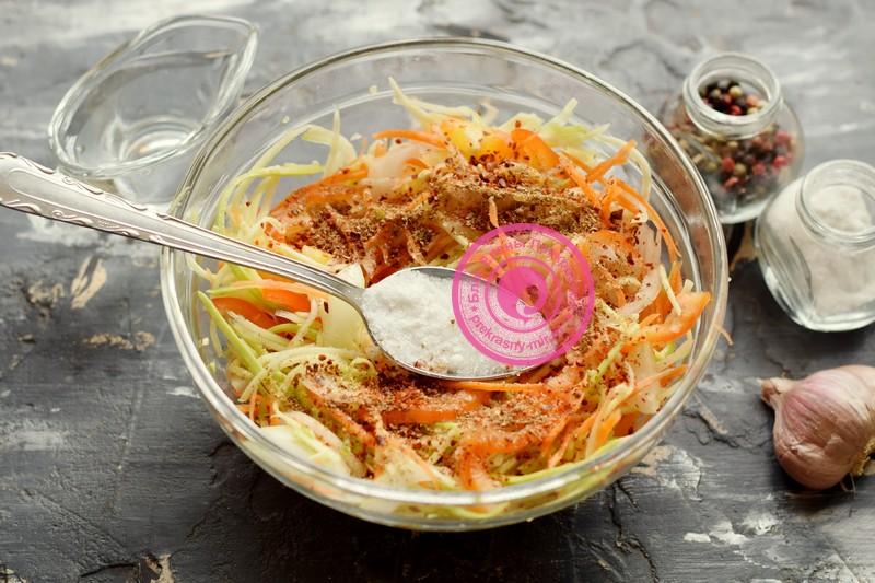 Салат из кабачков и перца по-корейски рецепт приготовления