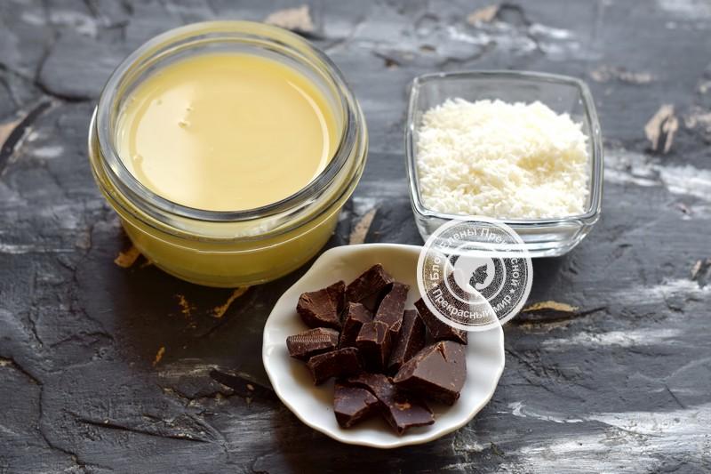 Конфеты Баунти с кокосом и шоколадом