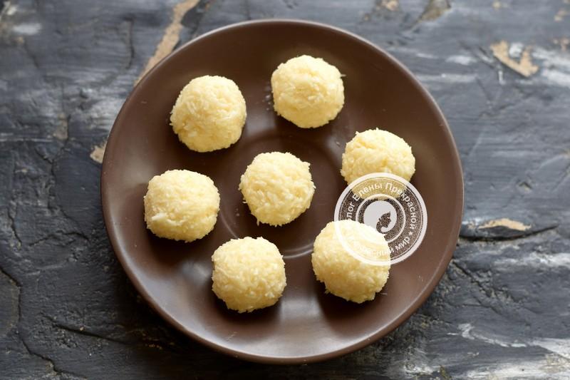 Конфеты Баунти с кокосом и шоколадом рецепт с фото