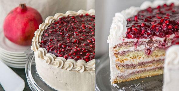 Миниатюра к статье Фото-рецепт рождественского торта из гранат— праздничное настроение!